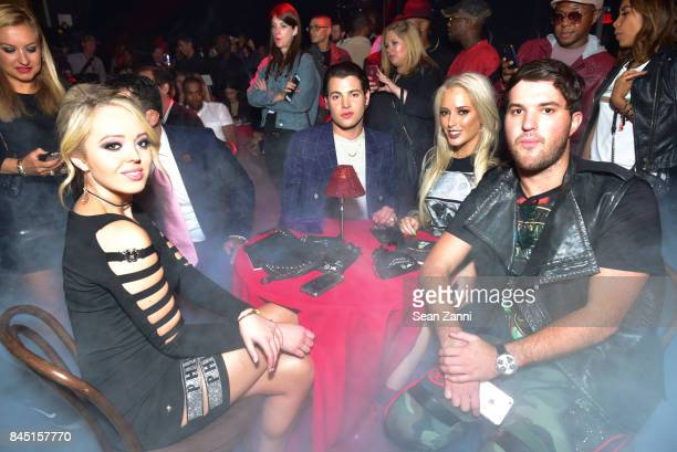 Tiffany Trump Peter Brant Jr Guest and Andrew Warren attend the Philipp Plein fashion show during New York Fashion Week The Shows at Hammerstein...