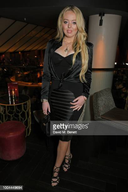 Tiffany Trump poses at dinner with her mother Marla Maples at Quaglino's on July 23 2018 in London England