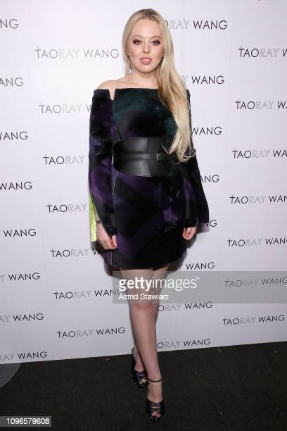 Tiffany Trump poses backstage for Taoray Wang fashion show during New York Fashion Week The Shows at Gallery II at Spring Studios on February 9 2019...
