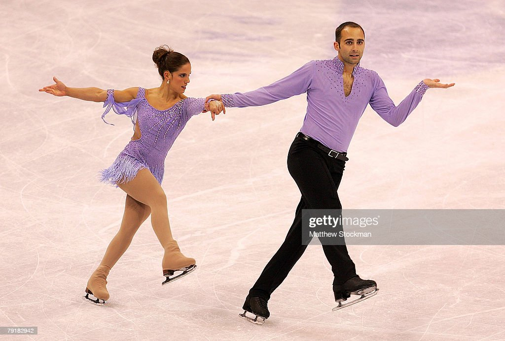 : Tiffany Vise and Derek Trent compete in the pairs short program during the US Figure Skating Championships January 23, 2008 at the Xcel Energy Center in St Paul, Minnesota.