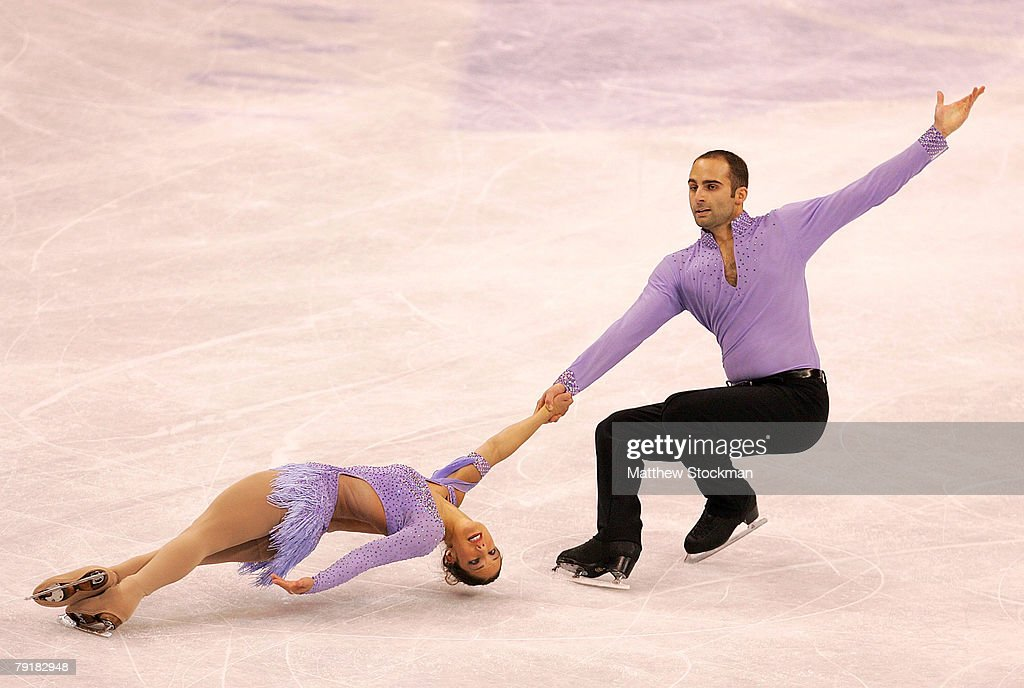 Tiffany Vise and Derek Trent compete in the pairs short program during the US Figure Skating Championships January 23, 2008 at the Xcel Energy Center in St Paul, Minnesota.