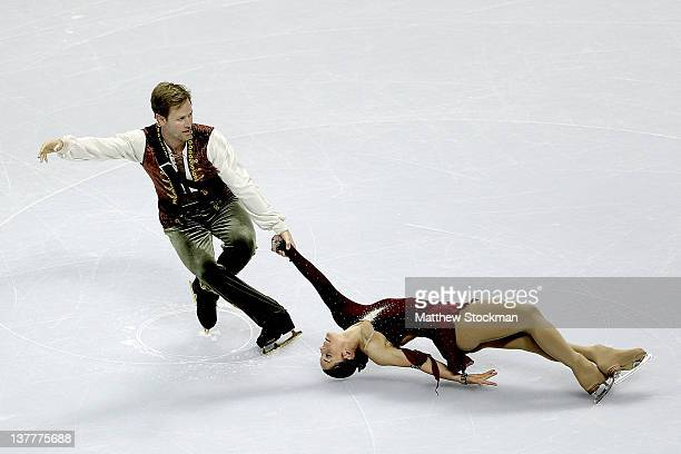 Tiffany Vise and Don Baldwin compete in the Short Program of the Pairs competition during the 2012 Prudential US Figure Skating Championships at the...