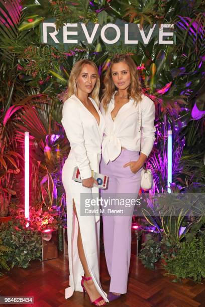 Tiffany Watson and Chloe Lewis attend the REVOLVE 'LA Party In London' hosted by Winnie Harlow at Hotel Cafe Royal on May 31 2018 in London England