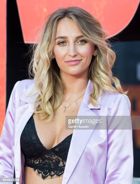 Tiffany Watson attends the European Premiere of 'Rampage' at Cineworld Leicester Square on April 11 2018 in London England