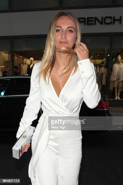 Tiffany Watson seen attending Kurt Geiger boutique opening party at Selfridges on May 31 2018 in London England