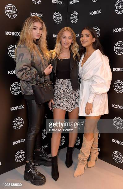 Tiffany Watson Stefanie Williams and guest attend the KOBOX Baker Street studio launch on October 25 2018 in London England