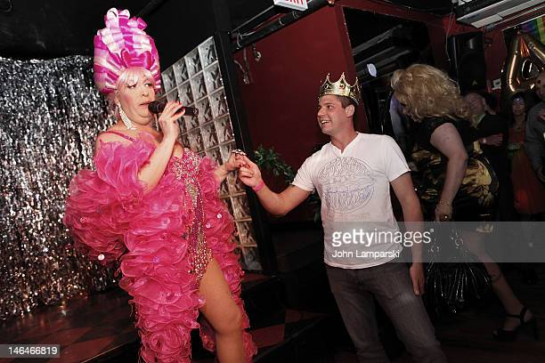 Tiffany Wells and Alex Carr attend Alex Carr's birthday celebration at The Stonewall Inn on June 16 2012 in New York City