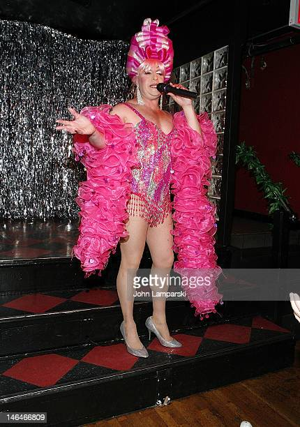 Tiffany Wells performs at Alex Carr's birthday celebration at The Stonewall Inn on June 16 2012 in New York City