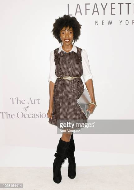 Tiffany Williams attends the Lafayette 148 New York South Coast Plaza Launch Benefitting Girl's Inc of Orange County on November 1 2018 in Costa Mesa...