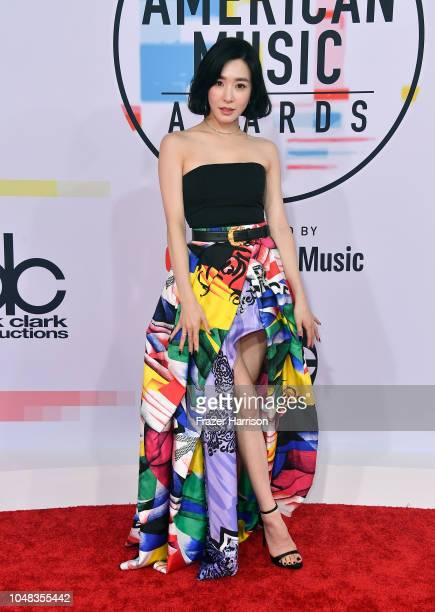 Tiffany Young attends the 2018 American Music Awards at Microsoft Theater on October 9 2018 in Los Angeles California
