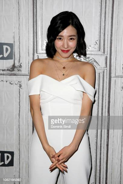 Tiffany Young attends the Build Series to discuss 'Teach You' at Build Studio on October 15 2018 in New York City