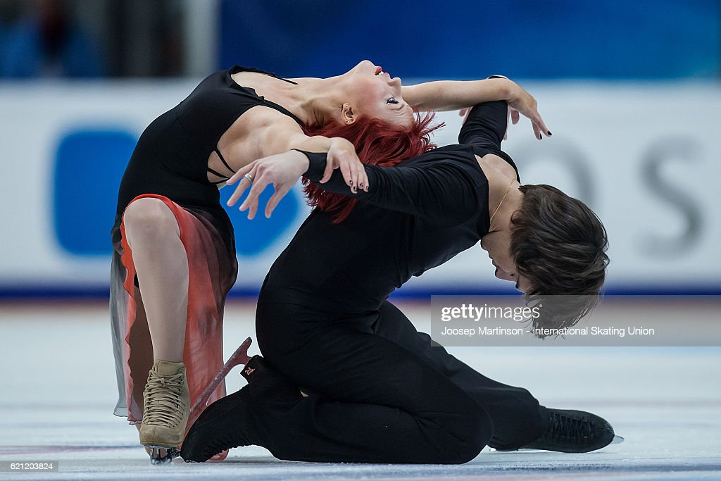 Tiffany Zahorski and Jonathan Guerreiro of Russia compete during Ice Dance Free Dance on day two of the Rostelecom Cup ISU Grand Prix of Figure Skating at Megasport Ice Palace on November 5, 2016 in Moscow, Russia.