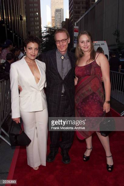 Tiffay Shepis Danny Elfman and his daughter Mali arrive for the world premiere of the 20th Century Fox film 'Planet of the Apes' at the Ziegfeld...