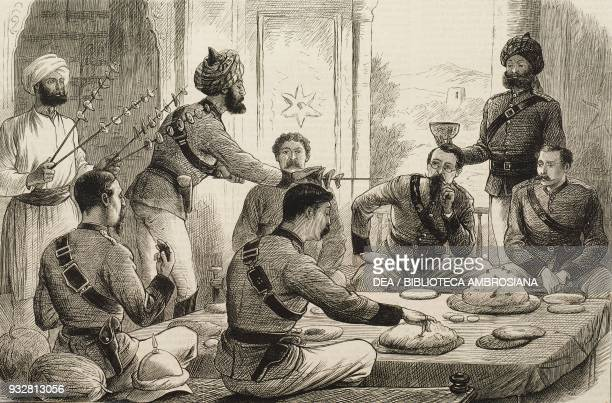 Tiffin with an Afghan chief at Gandamak the end of the Second AngloAfghan war illustration from the magazine The Graphic volume XIX no 499 June 21...
