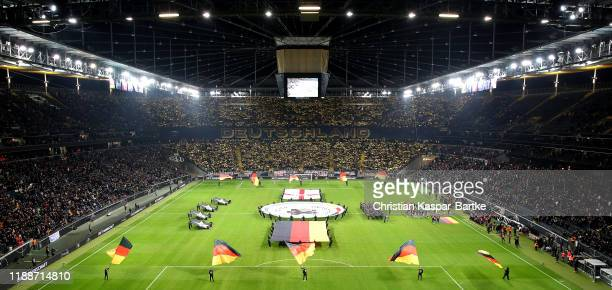 A tifo is seen prior to the UEFA Euro 2020 Qualifier between Germany and Northern Ireland at Commerzbank Arena on November 19 2019 in Frankfurt am...
