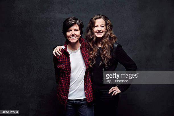 Tig Notaro and Stephanie Allynne from the film 'Tig' pose for a portrait for the Los Angeles Times at the 2015 Sundance Film Festival on January 24...