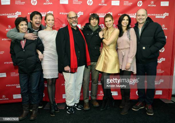 Tig Notaro Ken Marino Alexandra Holden Fred Melamed Demetri Martin Lake Bell Michaela Watkins and Rob Corddry attend the 'In a World' premiere at the...