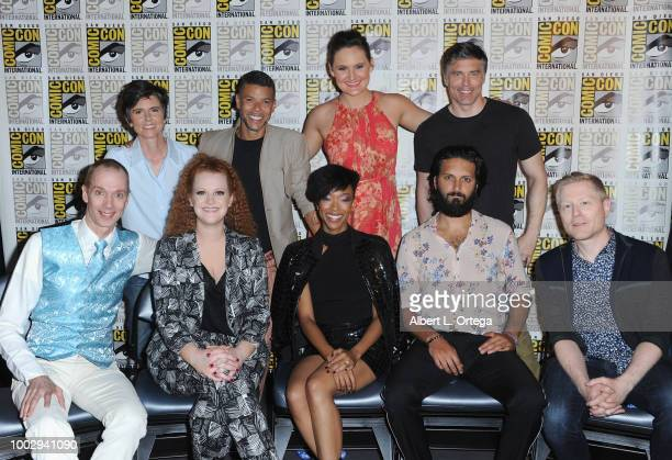 Tig Notaro Wilson Cruz Mary Chieffo and Anson Mount Doug Jones Mary Wiseman Sonequa Martin Green Shazad Latif and Anthony Rapp attend the 'Star Trek...