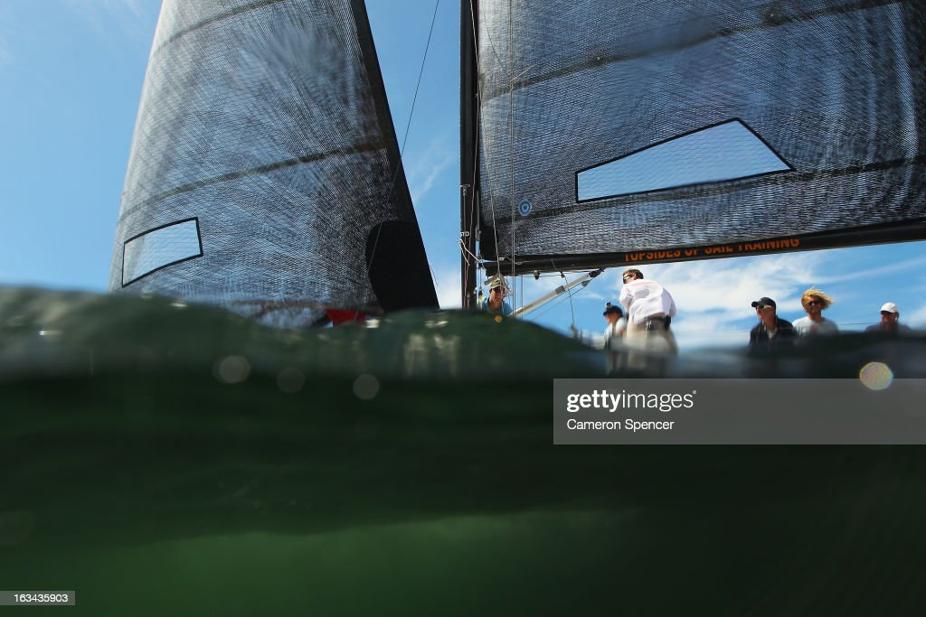 'Tiga' competes during the Sydney Regatta on Sydney Harbour, on March 10, 2013 in Sydney, Australia.