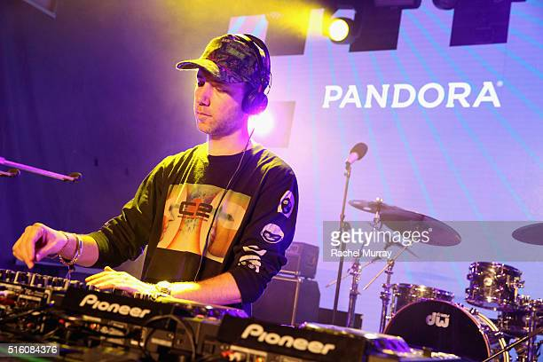Tiga performs onstage during the PANDORA Discovery Den SXSW on March 16 2016 in Austin Texas