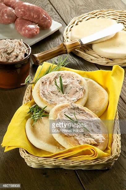 Tigelle with pesto of lard