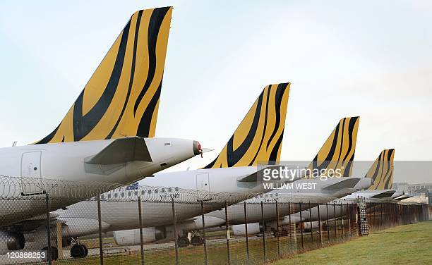 Tiger Airways planes sit on the tarmac as the budget carrier resumed flights in Australia, six weeks after regulators slapped a suspension on the...