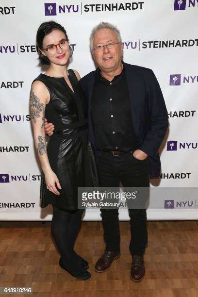 Tiger Darrow and Alan Menken attend NYU Steinhardt Music and Performing Arts Presents Songwriters Hall of Fame Master Sessions @ NYU with Alan Menken...