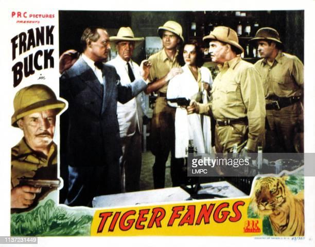 Tiger Fangs lobbycard J Farrell MacDonald Duncan Renaldo June Duprez Frank Buck 1943