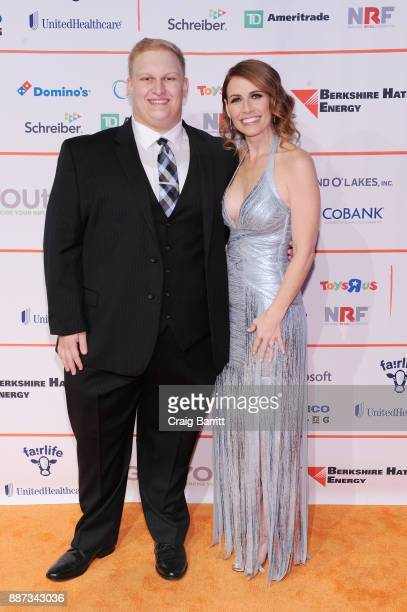 Tiger Greene and CEO of GENYOUth Alexis Glick attend the Second Annual GENYOUth Gala at Intrepid SeaAirSpace Museum on December 6 2017 in New York...