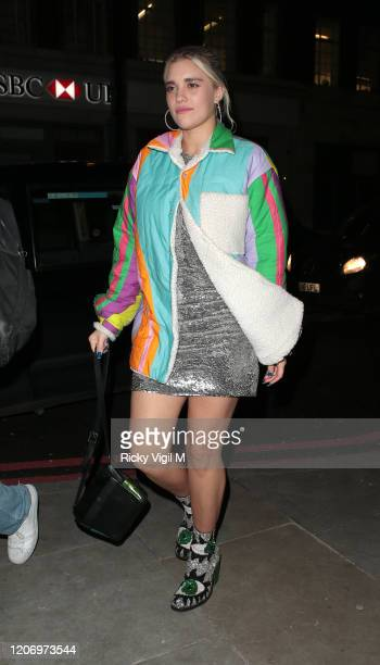Tiger Lilly Taylor seen attending LOVE Magazine party at The Standard during LFW February 2020 on February 17 2020 in London England