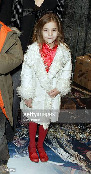 Tiger Lily daughter of Paula Yates and Michael Hutchence arrives for the world premiere of Peter Pan at the Empire Leicester Square December 9 2003...