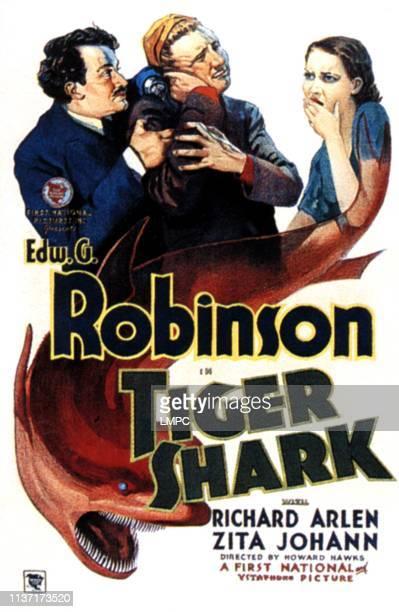 Edward G Robinson Richard Arlen Zita Johann on poster art 1932