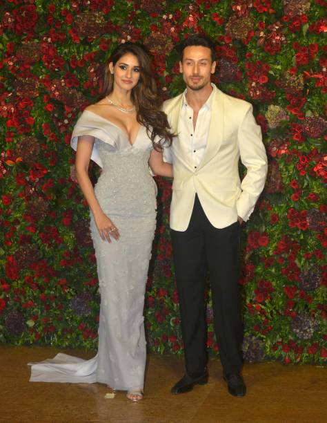 tiger-shroff-and-disha-patani-at-ranveer-singh-and-deepika-padukones-picture-id1067932118