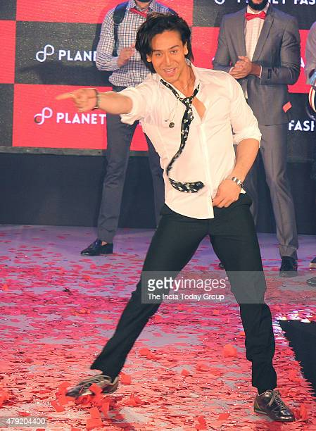 Tiger Shroff as a show stopper at a fashion show in Mumbai