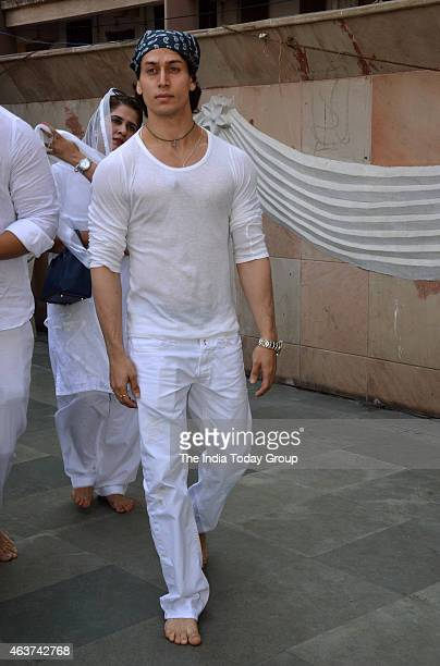 Tiger Shroff at Danny Denzongpas managers prayer meet in Mumbai