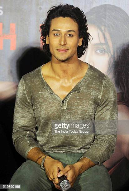 Tiger Shroff at the trailer launch of 'Baaghi' in Mumbai