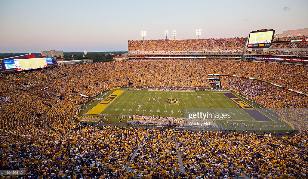 Tiger Stadium during a game between the LSU Tigers and the ...