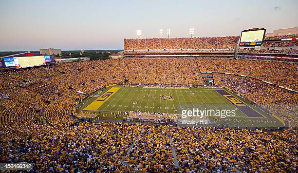 Tiger Stadium during a game between the LSU Tigers and the Mississippi State Bulldogs on September 20 2014 in Baton Rouge Louisiana The Bulldogs...