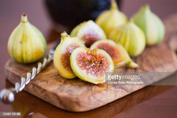 tiger stripe figs & honey - fig tree stock pictures, royalty-free photos & images