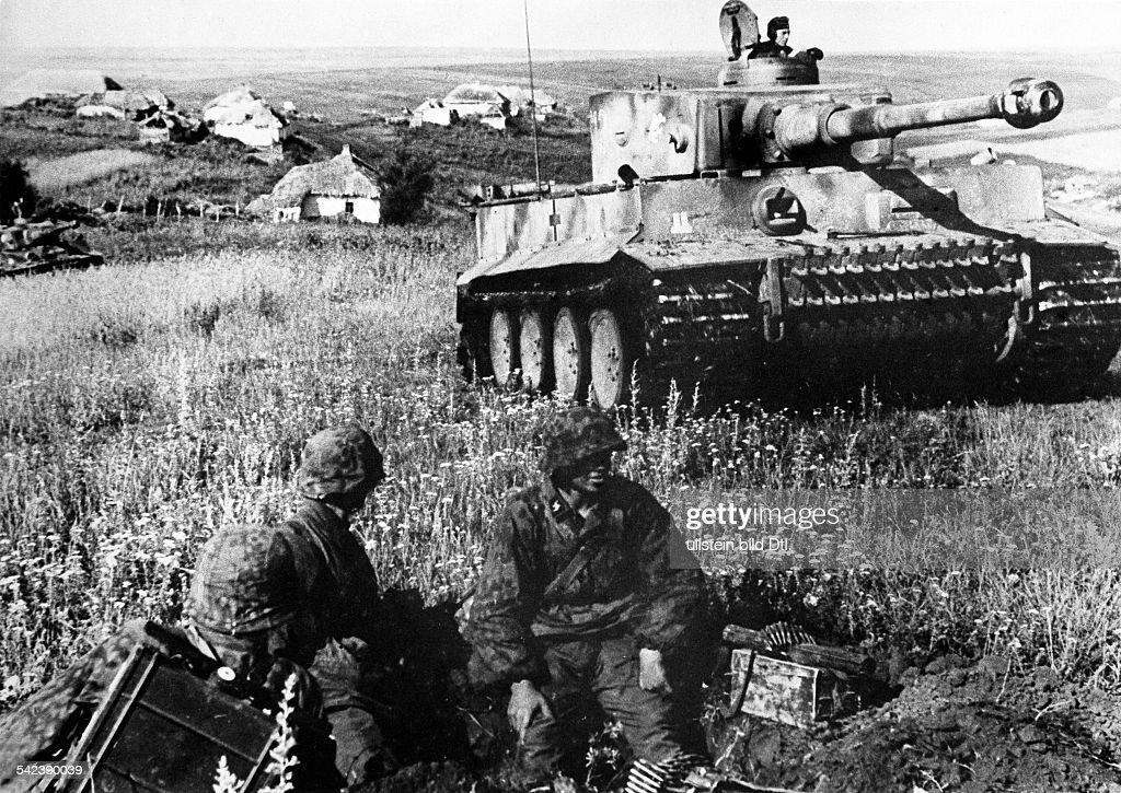 CITADEL, 1943  battle of Kursk Tiger tank of 2  SS