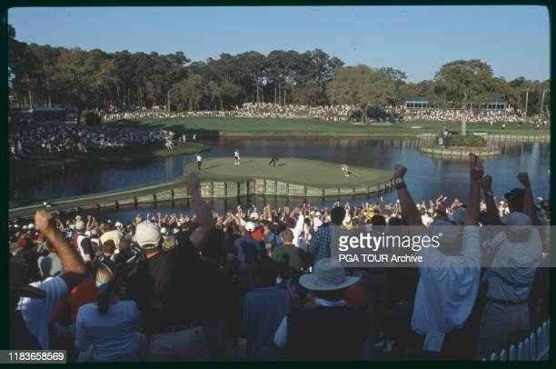 Tiger Woods, #17 Birdie 2001 THE PLAYERS Championship - March - Saturday Photo by Steve Vessenmeyer/PGA TOUR Archive via Getty Images
