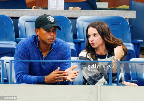 Tiger Woods and Erica Herman cheer on Rafael Nadal at 2019 US Open in New York City.