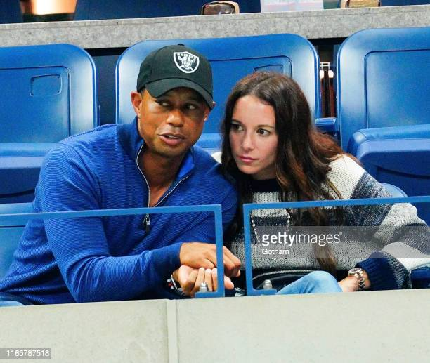 Tiger Woods and Erica Herman cheer on Rafael Nadal at 2019 US Open in New York City