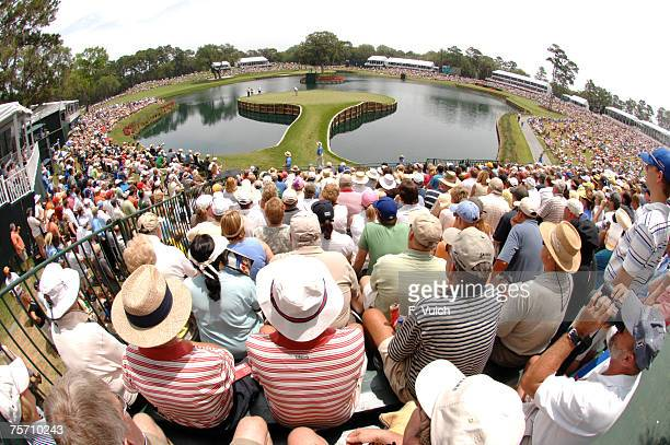 Tiger Woods and Henrik Stenson on the seventeenth hole during the third round of THE PLAYERS Championship held on THE PLAYERS Stadium Course at TPC...