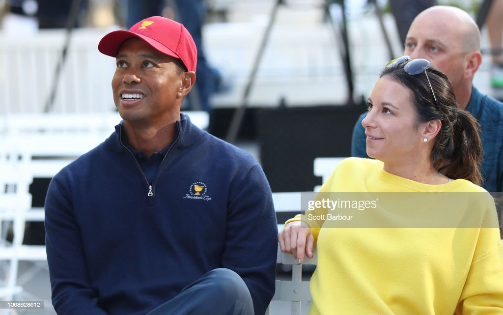 Tiger Woods Presidents Cup Media Opportunity : News Photo