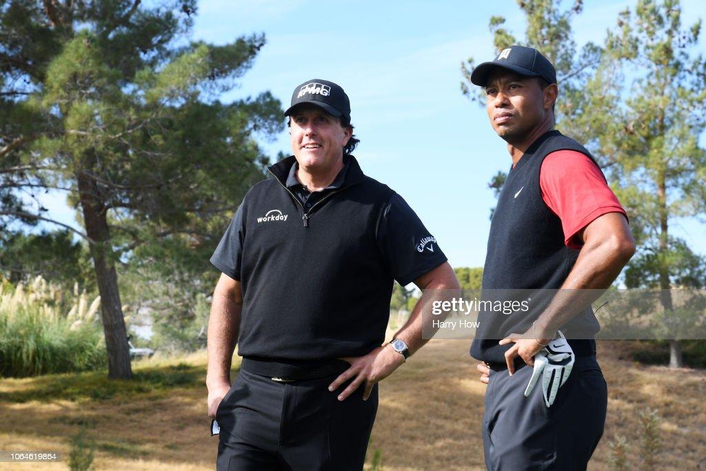 The Match: Tiger vs Phil : Nachrichtenfoto