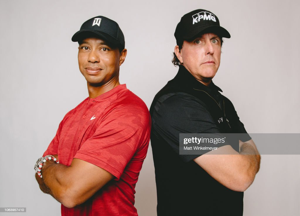 The Match: Tiger vs Phil - Exclusive Photo Shoot : Nachrichtenfoto