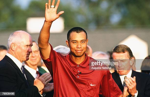 Tiger Woods At A Presentation During The 2001 Masters Tournament