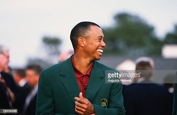 Tiger Woods At The Green Jacket Presentation During The 2001 Masters Tournament
