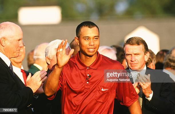 Tiger Woods At The Presentation During The 2001 Masters Tournament